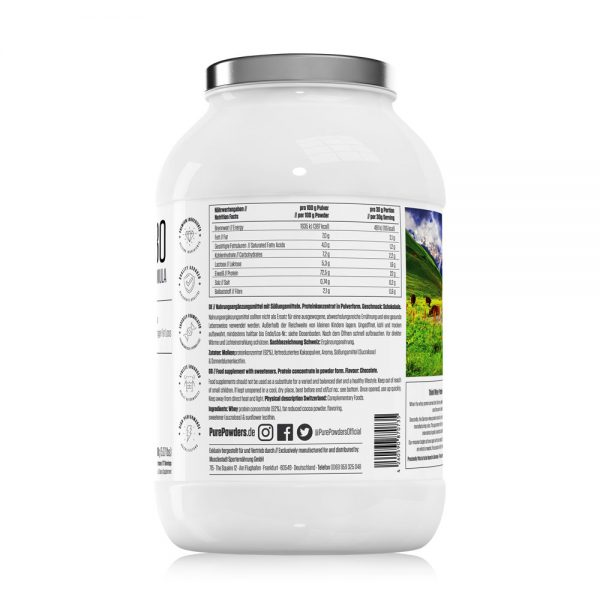 Pure Powders® WHEY P80 2300g Chocolate Flavour